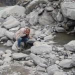 Fox Glacier  - assaggio dell'acqua