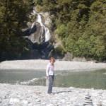 Haast Pass: Cascata sulla Haast River